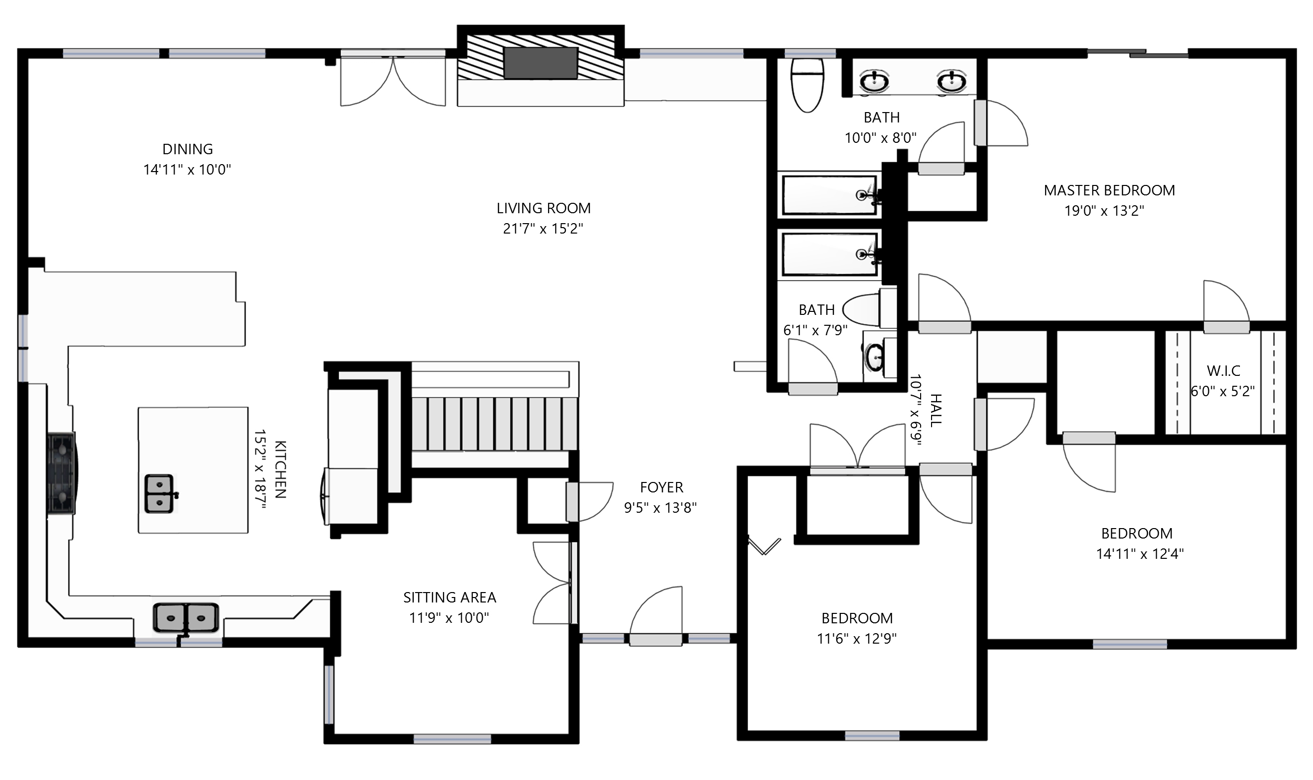 Interactive floor plan lake norman bluebird cove for Virtual floor plans for houses